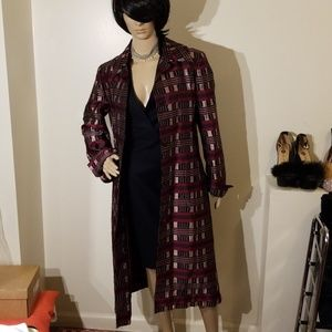 Carolina herrera silk beaded dress coat